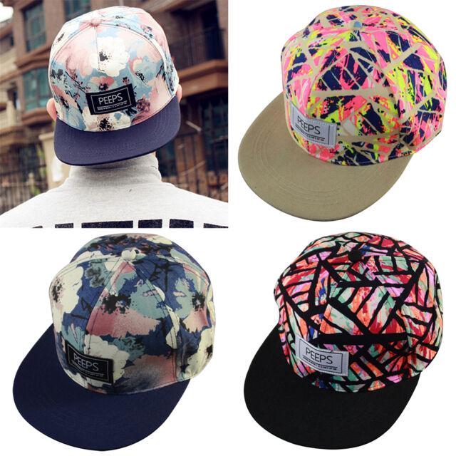 Hot Fashion Men's Snapback Adjustable Baseball Cap Hip Hop Hat Cool Floral Print