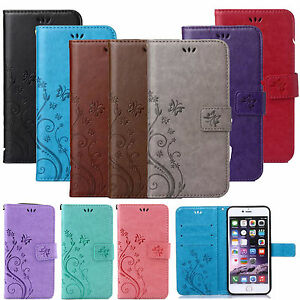 Embossed-Magnetic-PU-Leather-Soft-Wallet-Card-Holder-Stand-Case-Cover-For-Phones