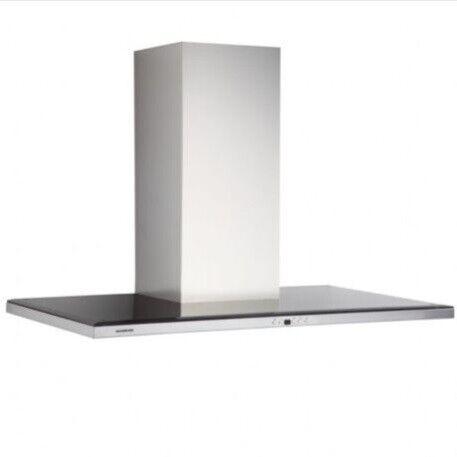 Silverline Nordic Dark 60 cm, Stål m/sort glastop