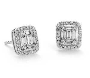 Pave-0-80-Cts-Natuerliche-Diamanten-Halo-Ohrstecker-In-Hallmark-18-Karat-Weissgold