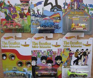 Beatles-Sonderedition-HW-SET-6x-Yellow-Submarine-Cars-Hot-Wheels-1-64-OVP