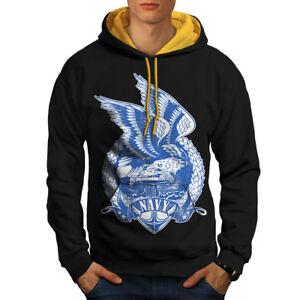 New Fashion Hood Navy hommes Contraste BlackOr Usa À Eagle Capuche 453RLAjq