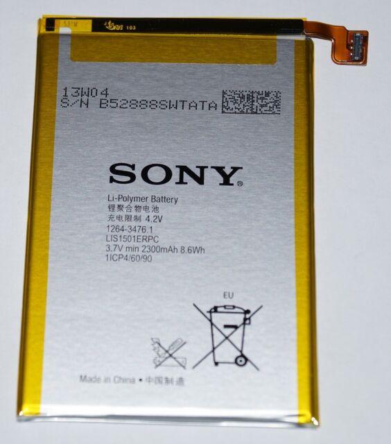 Original Sony xperia Zl (C6502) Batterie, Li-Poly, 2300 MAH, LIS1501ERPC