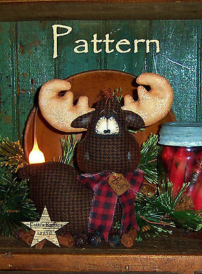 Primitive Patti's Ratties Originals Winter Moose Lodge Doll Paper Pattern #530