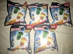 5x-Marvel-Pixelated-heroes-original-minis-Mini-Figures-Pack-Blind-Bags-Series-1