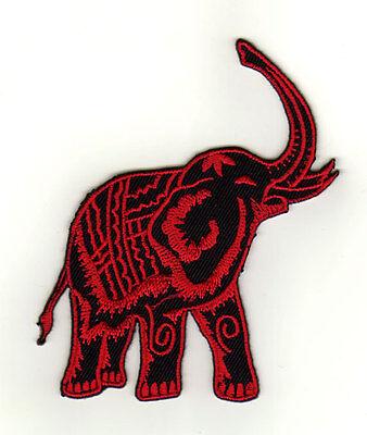 aa34 Elefant Rot Elephant Thailand Aufnäher Bügelbild Patch Kinder 8,2 x 9,7 cm