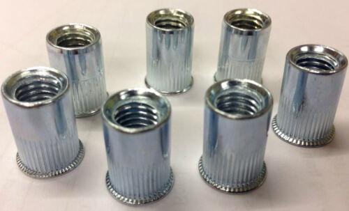 4MM THREADED STEEL SERRATED NUTSERTS RIVNUTS BLINDNUT RIVET NUTS NUT SERT INSERT