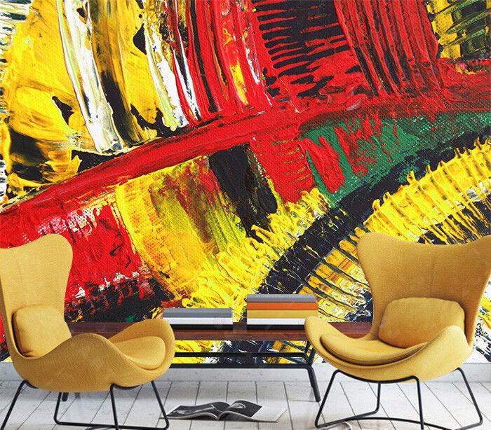 3D Kunst Graffiti Farbe 8033 Tapete Wandgemälde Tapeten Bild Familie DE Lemon