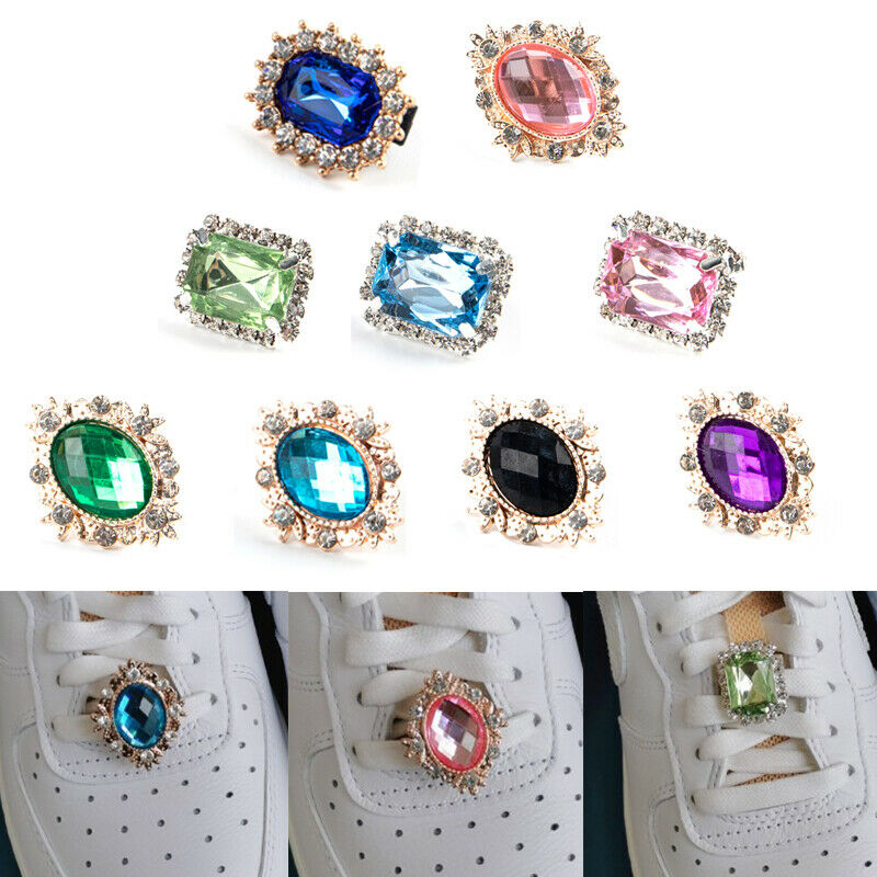 Crystal Rhinestone Buckle Accessories Shoes Charm Shoelace Jewelry Decoration-