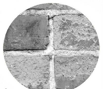 Not Just Another Brick on the Wall (Black and White)  12' x 8'-Wall Mural