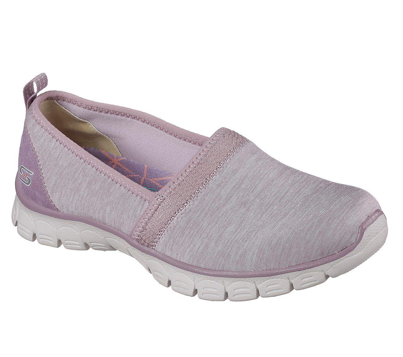 23436 Purple Skechers shoes Memory Foam Women Comfort Casual Slip On Sporty Mesh