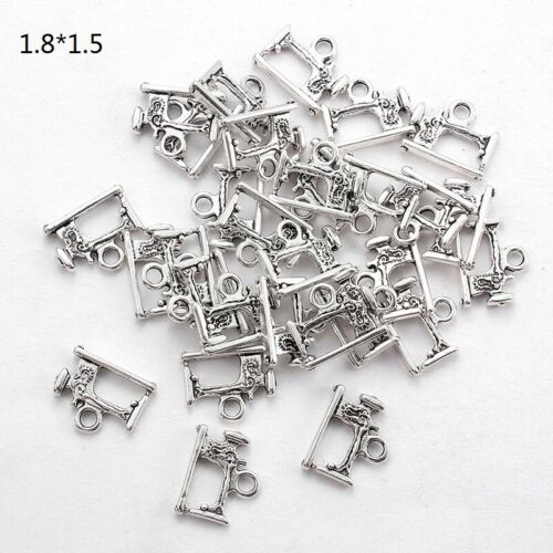 20X Charms Sewing Machine Antique Silver Making Pendant Fit DIY Handmade Jewelry