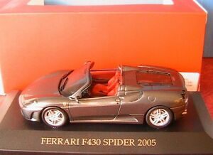 FERRARI-F430-SPIDER-2005-ANTHRACITE-IXO-MODELS-FER019-1-43-DARK-GREY-ANTHRACIT