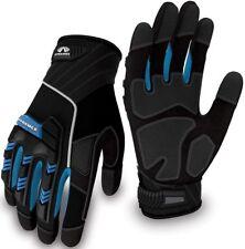 Pyramex Safety Gl201 Heavy Duty Impact Work Gloves Blue Medium