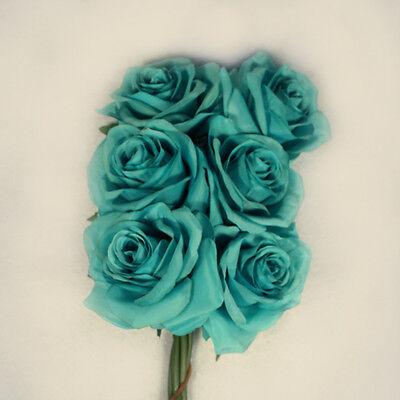 6  Open Roses Wedding Rose Silk Flower  Choose Color