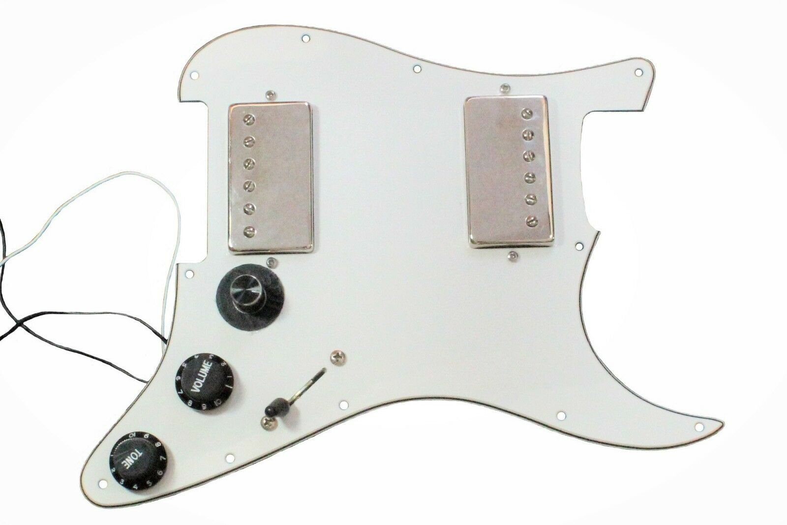 Alegree Chameleon 6 tones in 1 humbuckers loaded Stratocaster pickguard