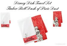 Disney Park Dish Towel Set - Tinker Bell Dash of Pixie Dust ~ NEW with TAG ~