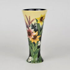 "Old Tupton Ware ""SUMMER BOUQUET"" Hand Painted Tube Lined VASE (8"") TW 1165"