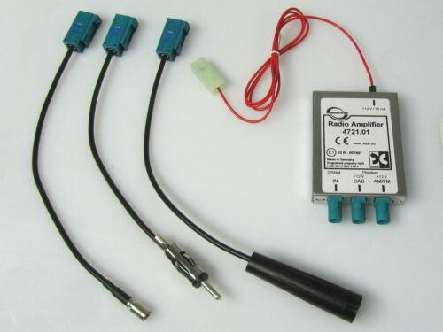 Dietz DAB+Splitter Antenne FM UKW Verstärker Phantom Einspeisung VW Doppel Fakra