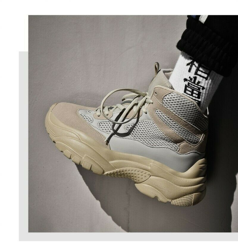 Mens High Top Basketball Lace UP Climbing Running Sneakers shoes Lace Up Outdoor