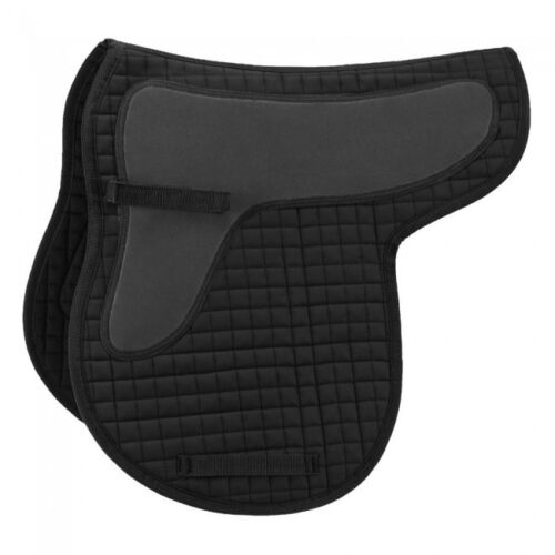 NWOT EquiRoyal Quilted Cotton Saddle Pad Black  w//shock absorbing foam