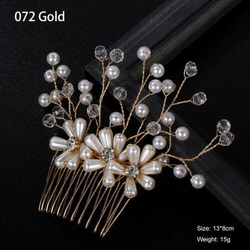 Flower Wedding Hair Accessories Bridal Hair Combs Bride Tiaras Women Headpiece