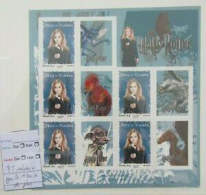 variete-2007-Feuillet-116-HARRY-POTTER-HERMIONE-3-timbres-1-bande-de-phosphore