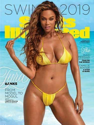 """Sports Illustrated 2019 Swimsuit Issue Cover 24 x 18/"""" POSTER Tyra Banks"""