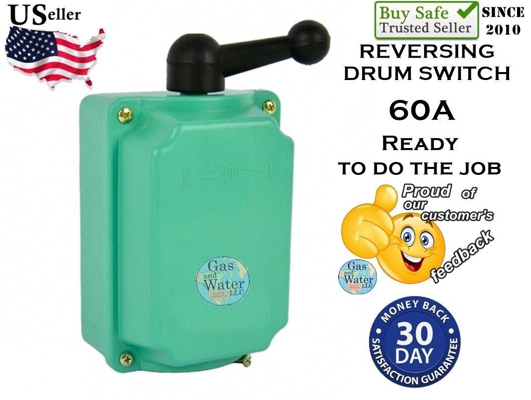 Drum Switch 60a Forward/off/reverse Motor Control Rain Proof GW   eBay