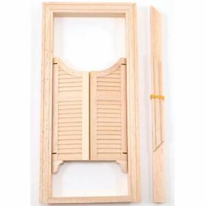Dollhouse Miniatures 1:12 Scale Double Swinging Door #CLA70134