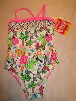 Girl's Bathing Suit/ Swimming Suit Size 4t. Angel Beach, One Piece, Bright