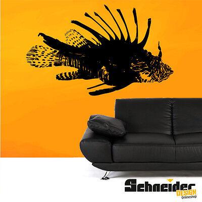 Wandtattoo Feuerfisch Fisch Wandbild Wandaufkleber Design Folie Dekoration