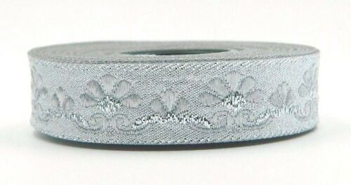 10m Jacquard Borte Webband Mittelater//Larp 16mm Breit Lurex Silber 0,69 €//m