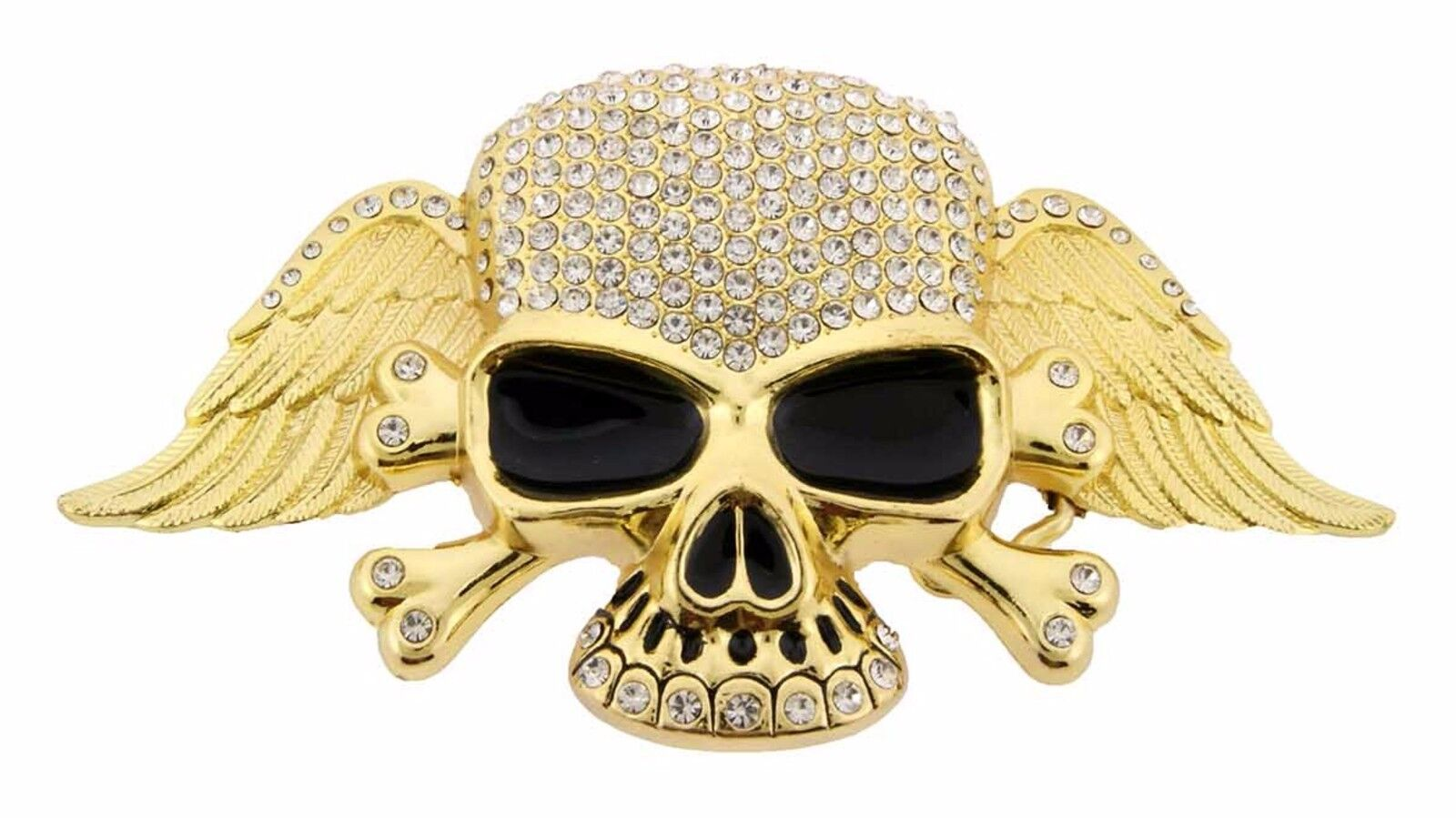 Herren Damen Totenkopf Gürtelschnalle Metall Tattoo Piraten Kreuz Knochen