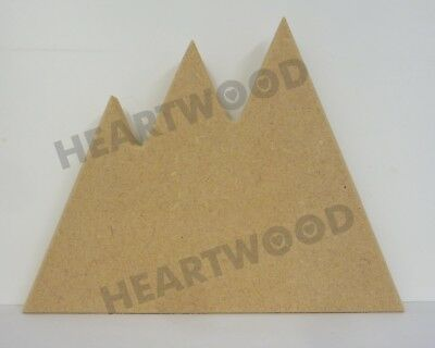 MOUNTAIN SHAPE MDF (145mm x 18mm thick)/WOODEN BLANK CRAFT SHAPES