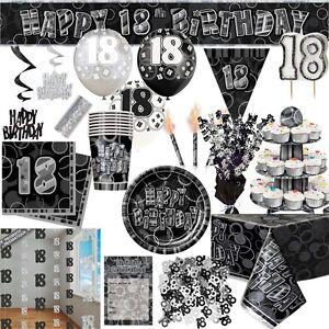18 Geburtstag Party Tischdeko Teller Becher Servietten Girlande