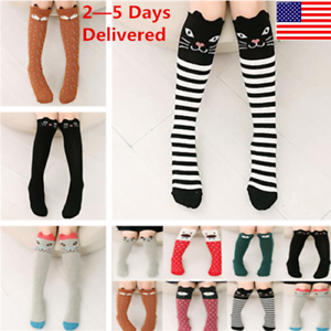 Casual Socks With Modern Christmas Santa Claus Print Thigh High Long Stockings Over Knee Socks