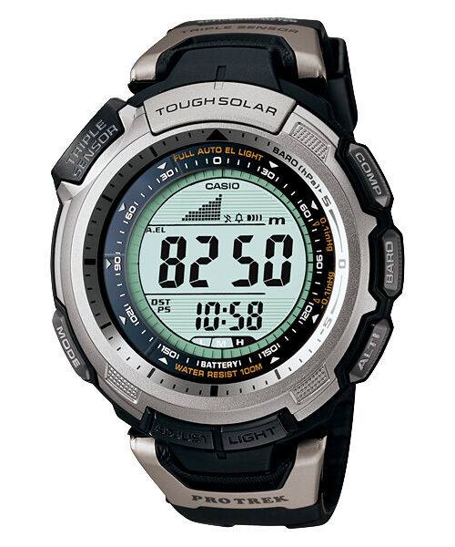 Casio Pro-Trek Triple Sensor Tough Solar Watch PRG-110-1 PRG-110-1VDR