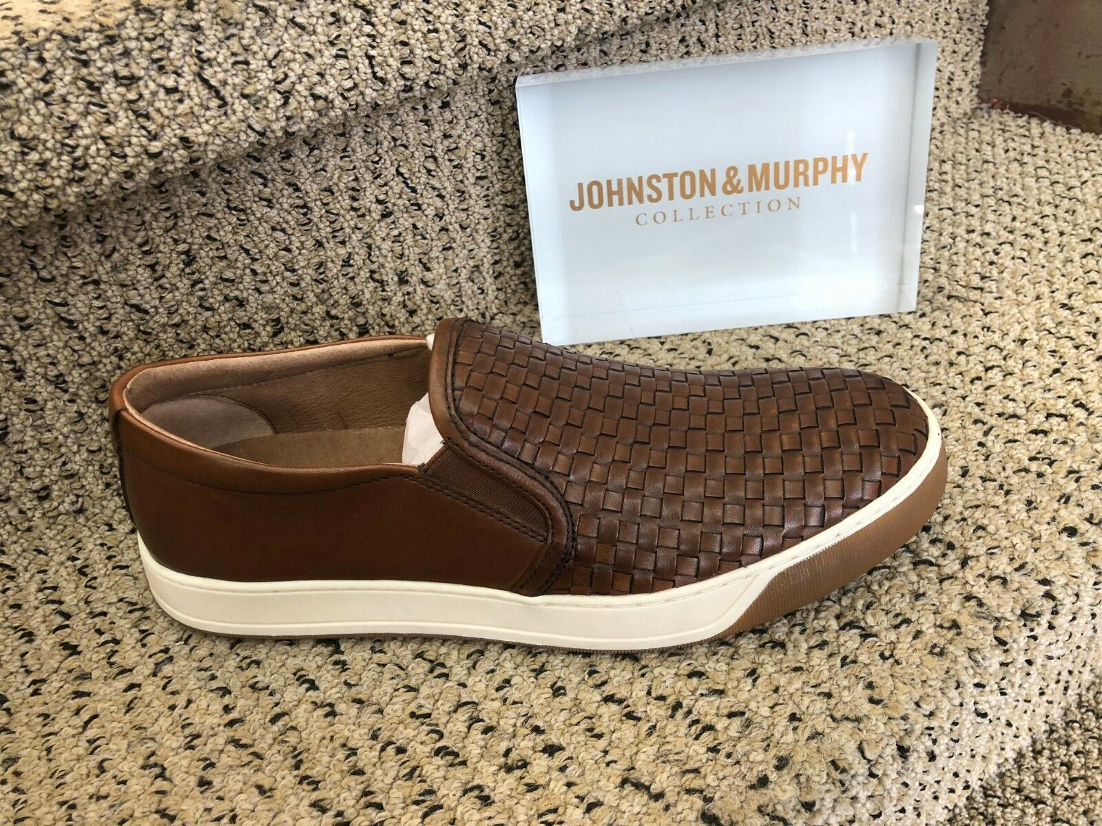 Johnston & Murphy Murphy Murphy Collection Men's Allister Wowen Slip-On In Tan d59056