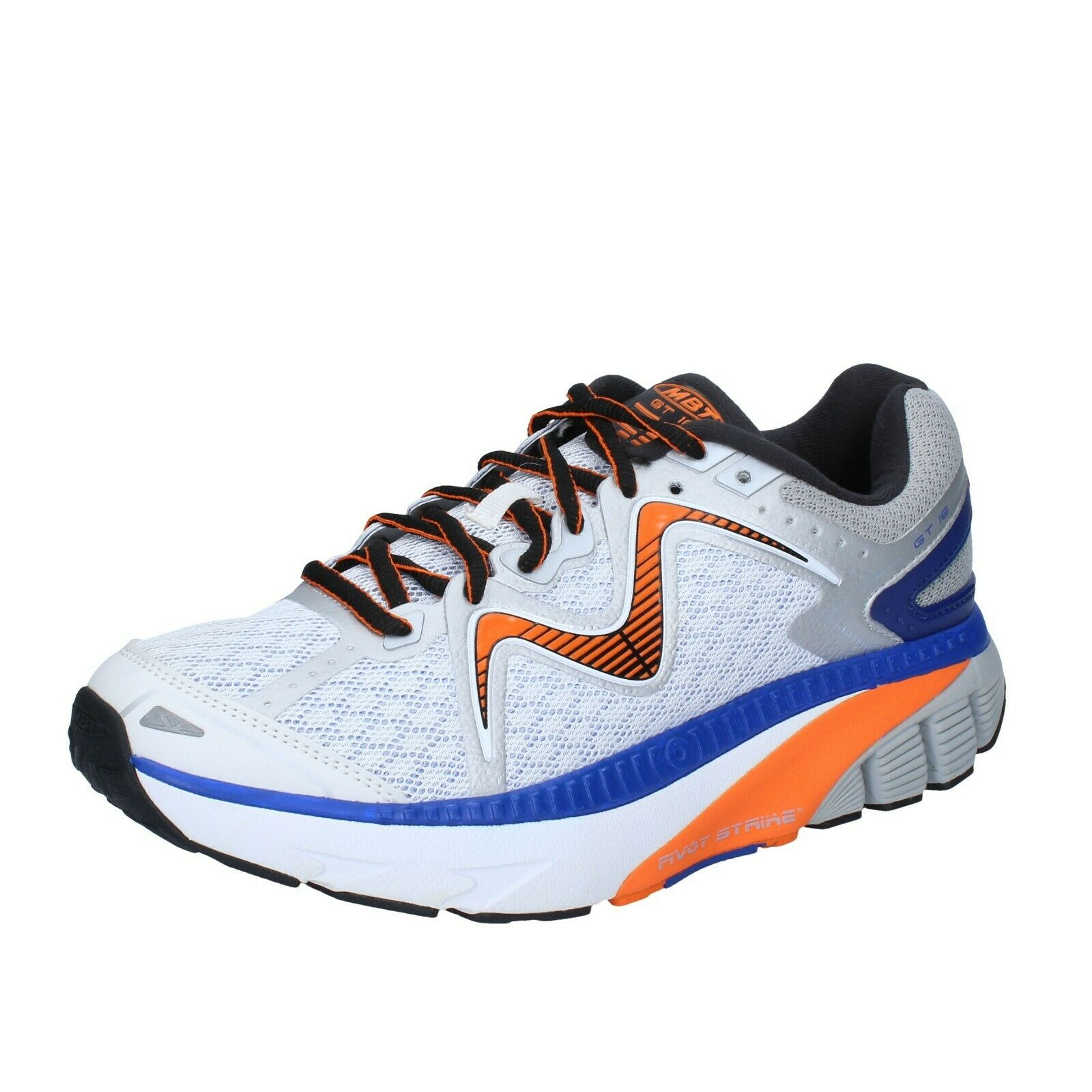 Men's shoes MBT 8 () sneakers bluee white textile performance BS380-41,5
