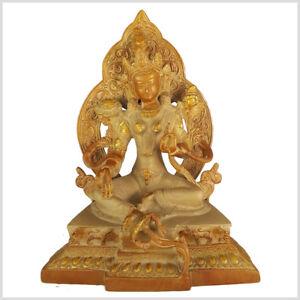 Medizinbuddha Heilender Buddha 29 cm 6KG Messing Buddhismus Medizin Gesundheit Wykonane po 1945