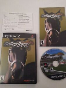 GALLOP-RACER-2004-PLAYSTATION-2-PS2-TECMO-HORSE-RACING-VIDEO-GAME-Complete