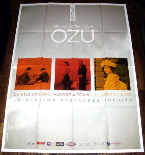 YASUJiRO OZU 110th birthday RETROSPECTiVE in 2013 年の小津安次郎回顧 LARGE French POSTER