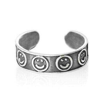 Twist Braid Toe Ring Genuine Sterling Silver 925 Adjustable Jewelry 1.3 grams