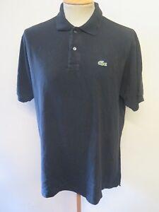 Das Bild wird geladen Original-Vintage-LACOSTE-Herren-Schwarz-Polo-Shirt -Groesse- 4596fec2c4