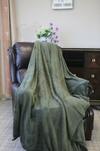 "Berkshire Blanket Genuine SeraSof and Fluffie Throw Solid oversized 50/""x70/"""
