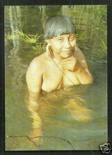 Brazil Xamatauteri Indian Woman bathing Rio Marauia Alto Rio Negro