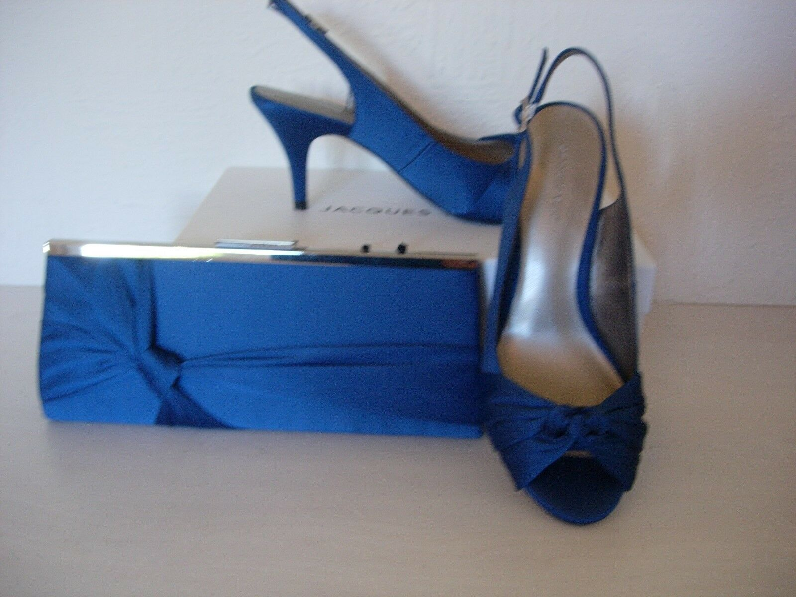JACQUES VERT  KNOT SLINGBACK Schuhe & MATCHING BAG/-DARK Blau  VERT SIZE 6 -NEW 4fc79c