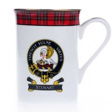 Scottish Balmoral Clan Crest Mug Royal Stewart Hand Made in Scotland