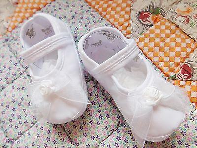 NIB Girl Shoes Organza 4ORGAS Baptism Christening Organza 50% INVENTORY CLOSEOUT